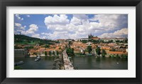 Framed Aerial view of Charles Bridge Prague Czech Republic