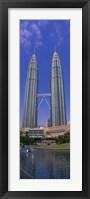 Framed Petronas Twin Towers, Kuala Lumpur, Malaysia