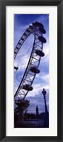 Framed Low angle view of the London Eye, Big Ben, London, England