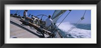 Framed Group of people racing in a sailboat, Grenada