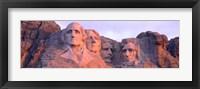 Framed Mount Rushmore, South Dakota (red hue)