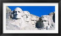 Framed Mount Rushmore in White