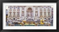 Framed Trevi Fountain Rome Italy