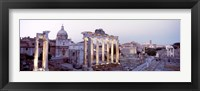 Framed Roman Forum at dusk, Rome, Italy