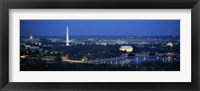 Framed Panoramic view of Washington DC