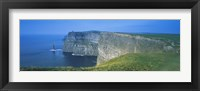 Framed Rock formations at the coast, Cliffs Of Moher, The Burren, County Clare, Republic Of Ireland