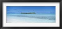 Framed Island in the ocean, Maina, Aitutaki, Cook Islands