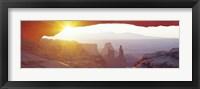 Framed Sunrise Mesa, Canyonlands National Park Utah, USA