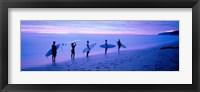 Framed Surfers on Beach Costa Rica