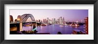 Framed Bridge over an inlet, Sydney Harbor Bridge, Sydney, New South Wales, Australia