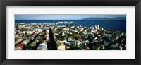 Framed High Angle View Of A City, Reykjavik, Iceland