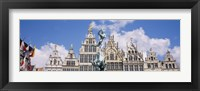 Framed Low angle view of buildings, Grote Markt, Antwerp, Belgium