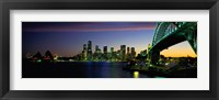Framed Sydney Australia at dusk