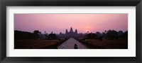 Framed Angkor Wat at dusk, Cambodia