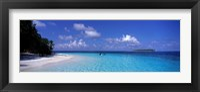 Framed Tropical Beach Ihru Maldives