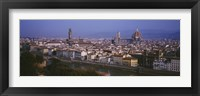 Framed High angle view of a cityscape, Florence, Tuscany, Italy