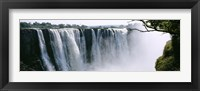 Framed Waterfall in a forest, Victoria Falls, Zimbabwe, Africa