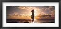 Framed Man Looking Through Binoculars In Silhouette