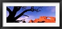 Framed Skyline Arch, Arches National Park, Utah, USA