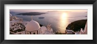 Framed View of Santorini, Greece