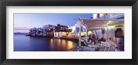 Framed Waterfront View of Mykonos, Greece