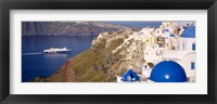 Framed Buildings in a valley, Santorini, Cyclades Islands, Greece
