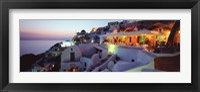 Framed Terrace overlooking the Caldera, Santorini, Greece