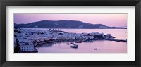 Framed Buildings in a city, Mykonos, Cyclades Islands, Greece