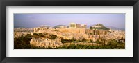 Framed High angle view of buildings in a city, Acropolis, Athens, Greece
