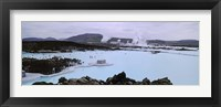 Framed People In The Hot Spring, Blue Lagoon, Reykjavik, Iceland