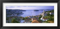 Framed Town On The Waterfront, Hvar Island, Hvar, Croatia