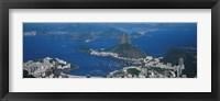 Framed Aerial View Of A City, Rio De Janeiro, Brazil