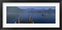 Framed Pier On A Lake, Santiago, Lake Atitlan, Guatemala