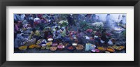 Framed High Angle View Of A Group Of People In A Vegetable Market, Solola, Guatemala