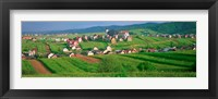 Framed High angle view of houses in a field, Tatra Mountains, Slovakia