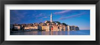 Framed City on the waterfront, Rovinj, Croatia