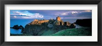 Framed High angle view of a castle, Stonehaven, Grampian, Aberdeen, Scotland