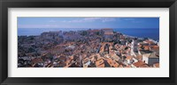 Framed High angle view of a city, Dubrovnik, Croatia