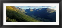 Framed High Angle View Of Grass Covering Mountains, Stob Ban, Glen Nevis, Scotland, United Kingdom