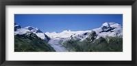Framed Snow Covered Mountain Range Matterhorn, Switzerland
