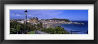 Framed High Angle View Of A City, Scarborough, North Yorkshire, England, United Kingdom