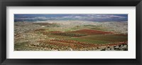 Framed Panoramic view of a landscape, Aleppo, Syria