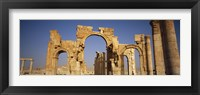 Framed Old Stone Ruins in Palmyra, Syria