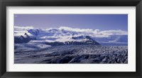 Framed Snowcapped mountains on a landscape, Fjallsjokull and Vatnajokull, Iceland