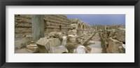 Framed Ruins of ancient Roman city, Leptis Magna, Libya