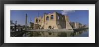 Framed Reflection of a building in a pond, Assai Al-Hamra, Tripoli, Libya