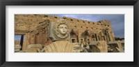 Framed Statue in an old ruined building, Leptis Magna, Libya