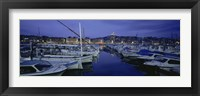 Framed Boats docked at a port, Old Port, Marseille, Bouches-Du-Rhone, Provence-Alpes-Cote Daze, France