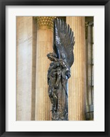 Framed Close-up of a war memorial statue at a railroad station, 30th Street Station, Philadelphia, Pennsylvania, USA
