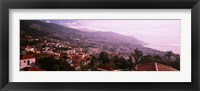 Framed High angle view of a town, Fortela de Pico, The Pico Forte, Funchal, Madeira, Portugal